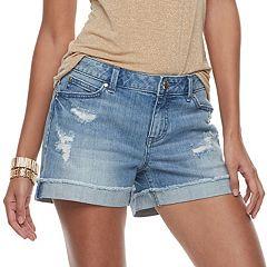 Women's Jennifer Lopez Rockin Cuffed Jean Shorts