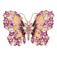 Dana Buchman Simulated Crystal Butterfly Pin