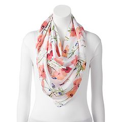 Women's Dana Buchman All-Over Floral Square Scarf