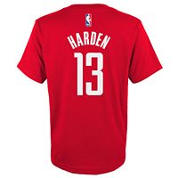 Boys 8-20 Houston Rockets James Harden Player Name & Number Replica Tee
