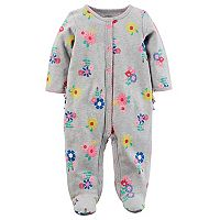 Baby Girl Carter's Floral & Ruffles Sleep & Play