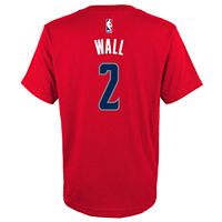 Boys 8-20 Washington Wizards John WallBall Player Name & Number Replica Tee