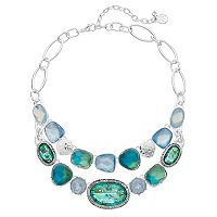 Dana Buchman Composite Shell Geometric Swag Necklace