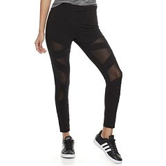 Juniors' Cloud Chaser Mesh Inset Leggings