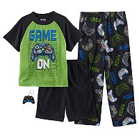 Boys 6-12 Up-Late Game-On 3-Piece Pajama Set