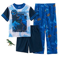 Boys 4-10 Up-Late Dinosaur 3-Piece Set