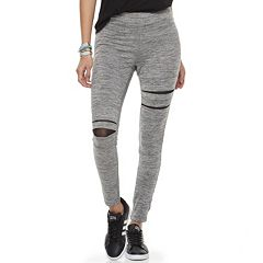 Juniors' Cloud Chaser Ripped Mesh Leggings
