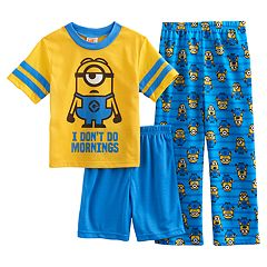 Boys 4-10 Minion 3-Piece Pajama Set