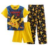 Boys 6-12 Pokemon 3 pc Pajama Set
