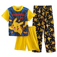 Boys 6-12 Pokemon 3-Piece Pajama Set