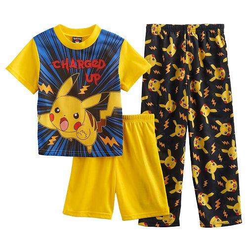 Boys 6-12 Pokemon 3-Piece Pajama Set