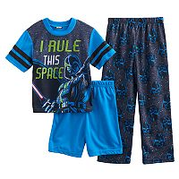Boys 6-12 Star Wars 3-Piece Pajama Set