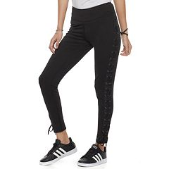 Juniors' Cloud Chaser Lace-Up Leggings