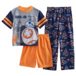 Boys 6-12 Star Wars BB8 3-Piece Pajama Set