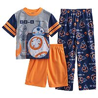 Boys 6-12 Star Wars BB8 3 pc Pajama Set