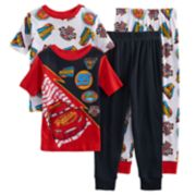 Boys 4-8 Disney Cars 4-Piece Pajama Set