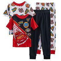 Boys 4-8 Disney Cars 4-Piece Pajama Set