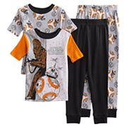 Boys 6-12 Star Wars BB8 4 pc Pajama Set