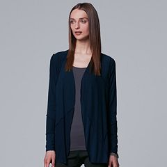 Women's Simply Vera Vera Wang Textured Handkerchief Cardigan