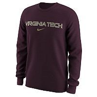 Men's Nike Virginia Tech Hokies Camo Wordmark Tee