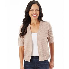 Women's Apt. 9® Shadow Stripe Cardigan