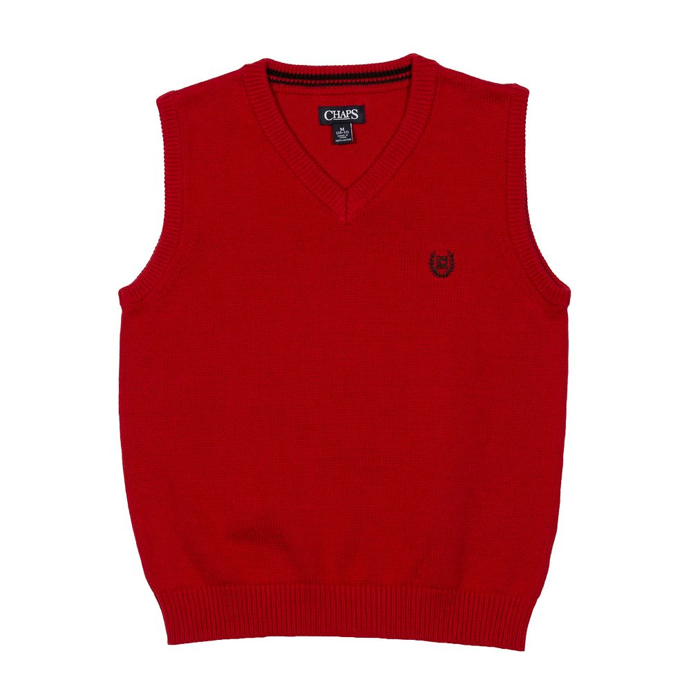 4-20 Chaps Solid Sweater Vest