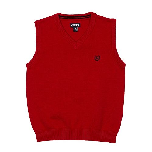 Boys 4-20 Chaps Solid Sweater Vest