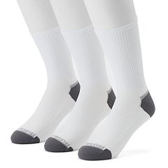 Men's Fruit of the Loom 3-pack Breathable Nylon Crew Socks
