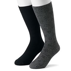 Men's Dr. Scholl's 2-pack Dressy Casual Crew Socks