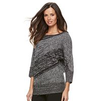 Women's Dana Buchman Diagonal Stripe Dolman Sweater