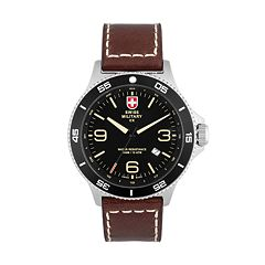 Swiss Military by Charmex(CX) Men's Infantry Leather Watch - 78344-5-D