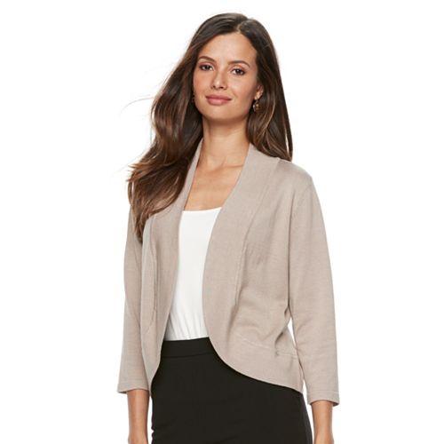 Women's Dana Buchman® Jersey Stitch Bolero Jacket