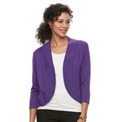 Women's Dana Buchman Jersey Stitch Bolero Jacket