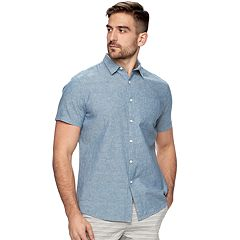 Men's Marc Anthony Slim-Fit Linen Button-Down Shirt