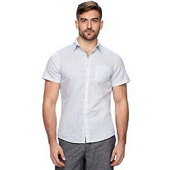 Men's Marc Anthony Slim-Fit Linen Button-Down Shirt