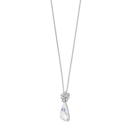 Brilliance Silver Tone Comet Pendant with Swarovski Crystals