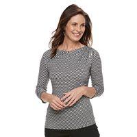 Women's Dana Buchman Half-Cowlneck Top