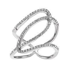 Brilliance Swirl Ring with Swarovski Crystals