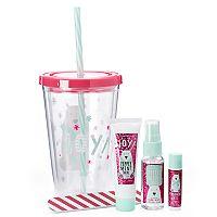 Simple Pleasures Peppermint Swirl Hand Lotion, Lip Balm, Body Mist & Nail File Polar Bear Gift Set