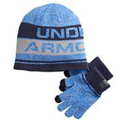 Boys Under Armour Beanie & Gloves Set