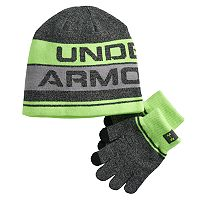 Boys Under Armour Beanie & Gloves Set