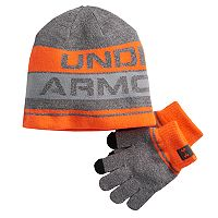 Boys 4-20 Under Armour Beanie & Gloves Set