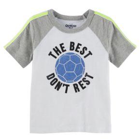 "Boys 4-12 OshKosh B'gosh® ""The Best Don't Rest"" Soccer Ball Raglan Tee"