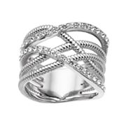 Brilliance Weave Ring with Swarovski Crystals