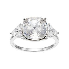 Brilliance Cushion Ring with Swarovski Crystals