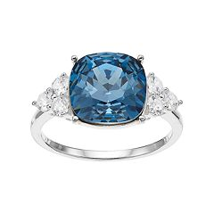 Brilliance Cushion Ring with Swarovski Crystals