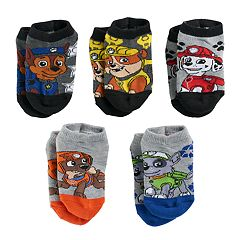 Boys 4-20 Paw Patrol 5-Pack Low-Cut Socks