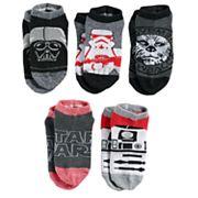 Boys 4-20 Star Wars Darth Vader 5-Pack Low-Cut Socks