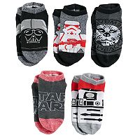 Boys 4-20 Star Wars Darth Vader 5-Pack Low-Cut Socks