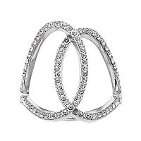 Brilliance Open Oval Ring with Swarovski Crystals